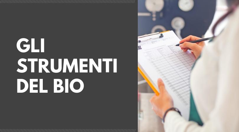 Gli strumenti del bio preaudit audit