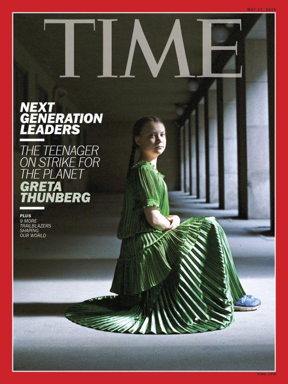 Greta Thunberg copertina di Time Magazine di Hellen van Meene generazione ambiente